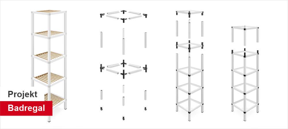 Badregal selber bauen Moebelbau Aufbau Badezimmer Regal