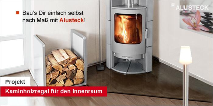Bauanleitung Kaminholzregal innen bauen - do it yourself