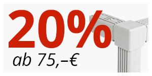 ab 75€ -> 20% Rabatt