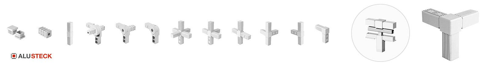 Ladenbausysteme stabile Verbindungstechnik Steckverbinder Rohrverbinder Grundgestelle bauen