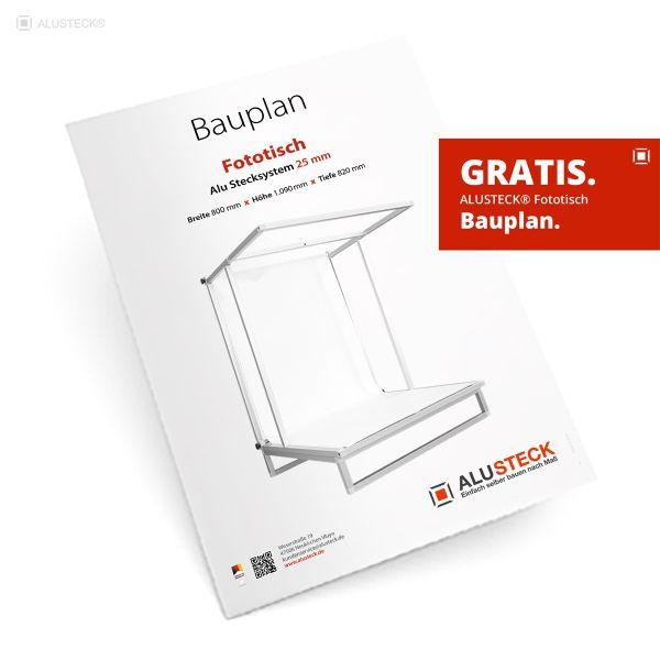 Fototisch Bauplan PDF - Hier kostenloser Download - ALUSTECK®