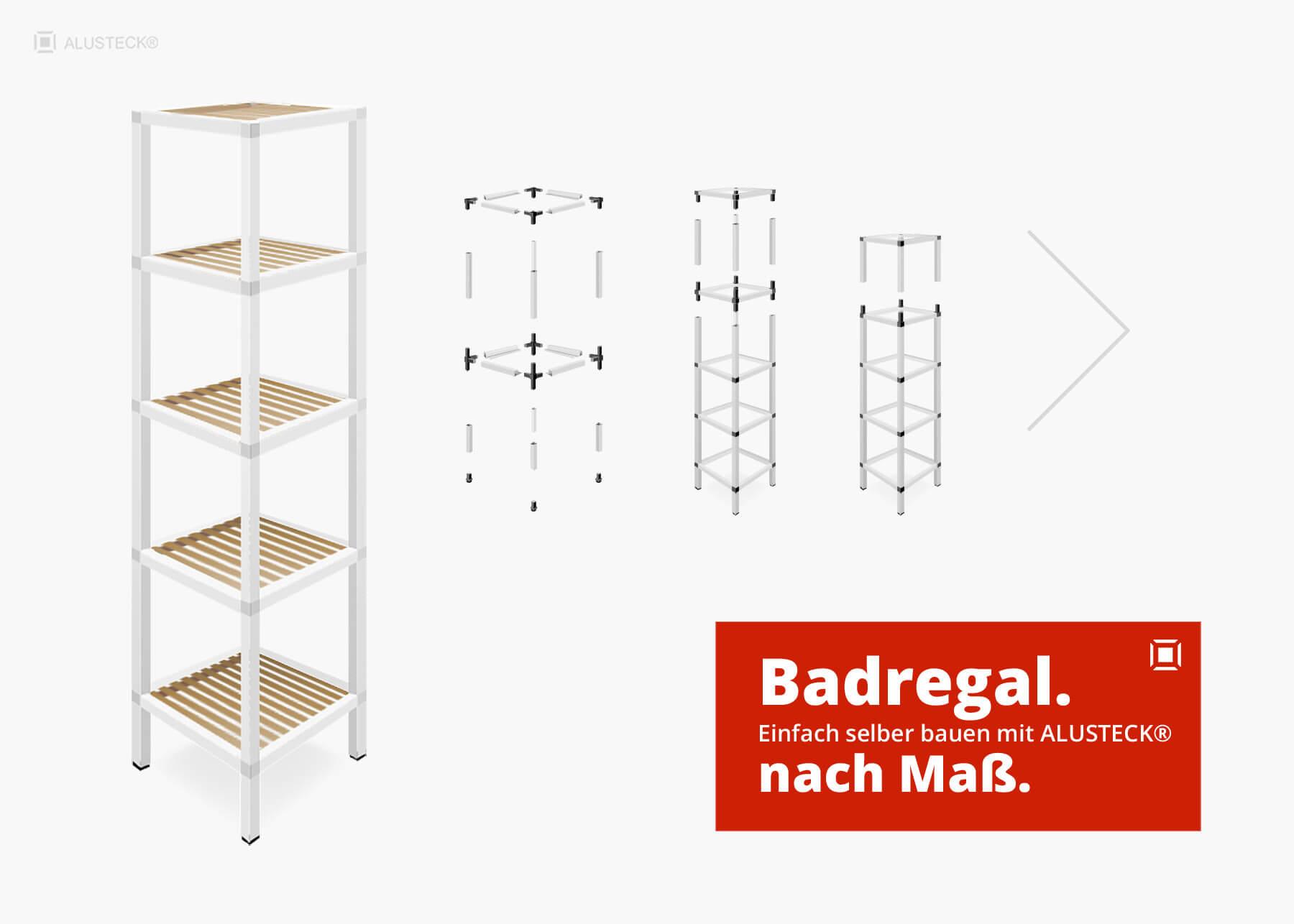 Badregal selber bauen - Anleitung Badezimmer-Regal