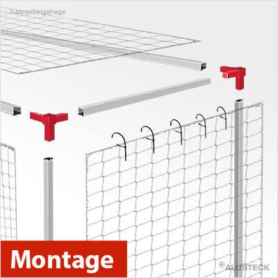 Bauanleitung Gehege für Katzen - Montage und Zusammenbau