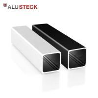 Alu Vierkantrohr 25 x 25 x 1,5 mm - Aluminiumprofil blank, silber eloxiert, schwarz pulverbeschichtet - Quadratrohr R-V25