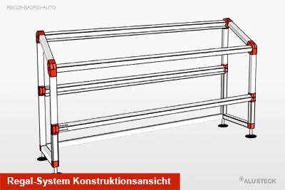 PKW Regal-System Konstruktionsansicht