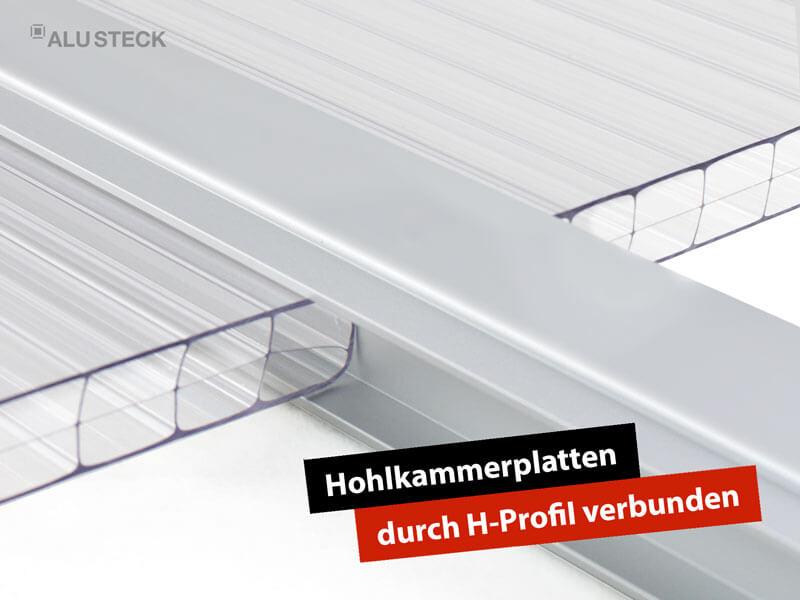 Terrassendach selbst bauen - Eindeckung für das Dach Anwendungsbeispiel