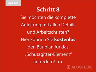 ALUSTECK Schutzgitter Bauplan