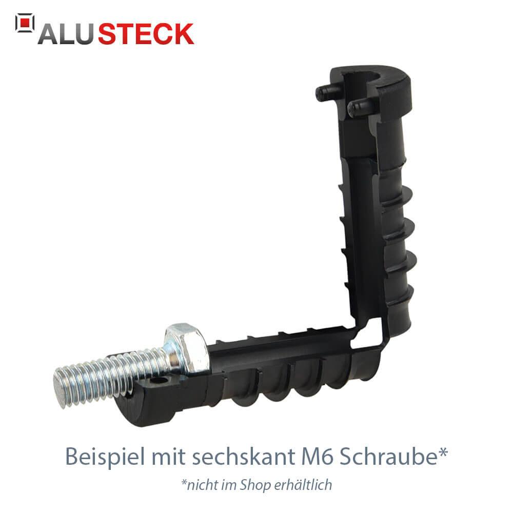 Rohrstopfen 20mm für Rundrohre mit 6-Kant Schraube M6