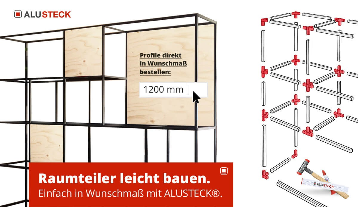 Raumteiler selber bauen - Bauanleitung do it yourself nach Maß