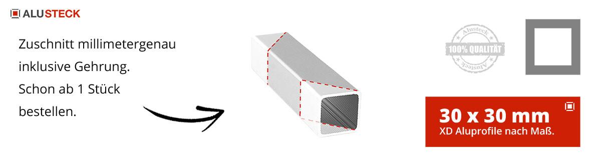 XD Profile Aluprofile 30 x 30 mm - Aluminiumprofile Kabine Raum selber bauen Assembly Schutz ALUSTECK®