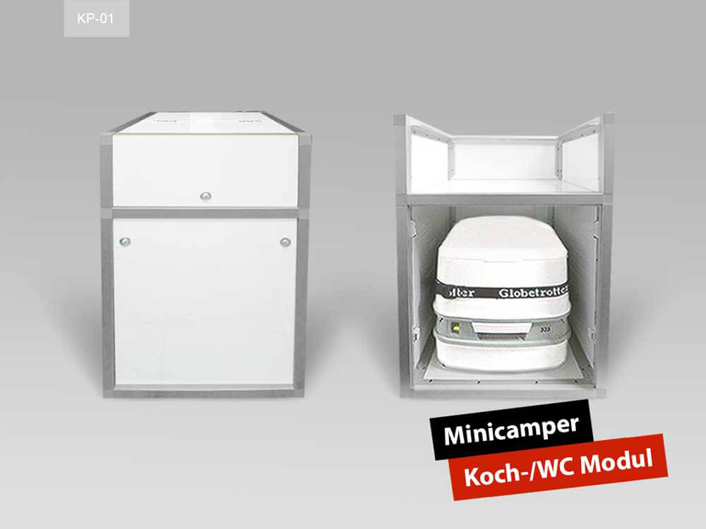 Korpus Koch-/WC-Modul mit integriertem PortaPotti