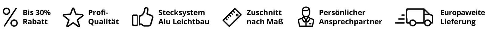 ALUSTECK® USP Vorteile Gewächshaus Stecksystem aus Aluprofilen - DIY Bauanleitung zum selber bauen