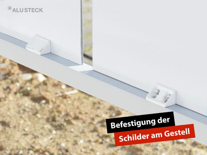 Universal Winkelverbinder zur Befestigung der Schilder