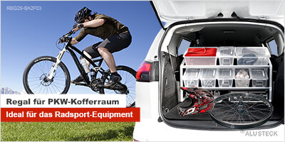 PKW-Regal für den Radsport