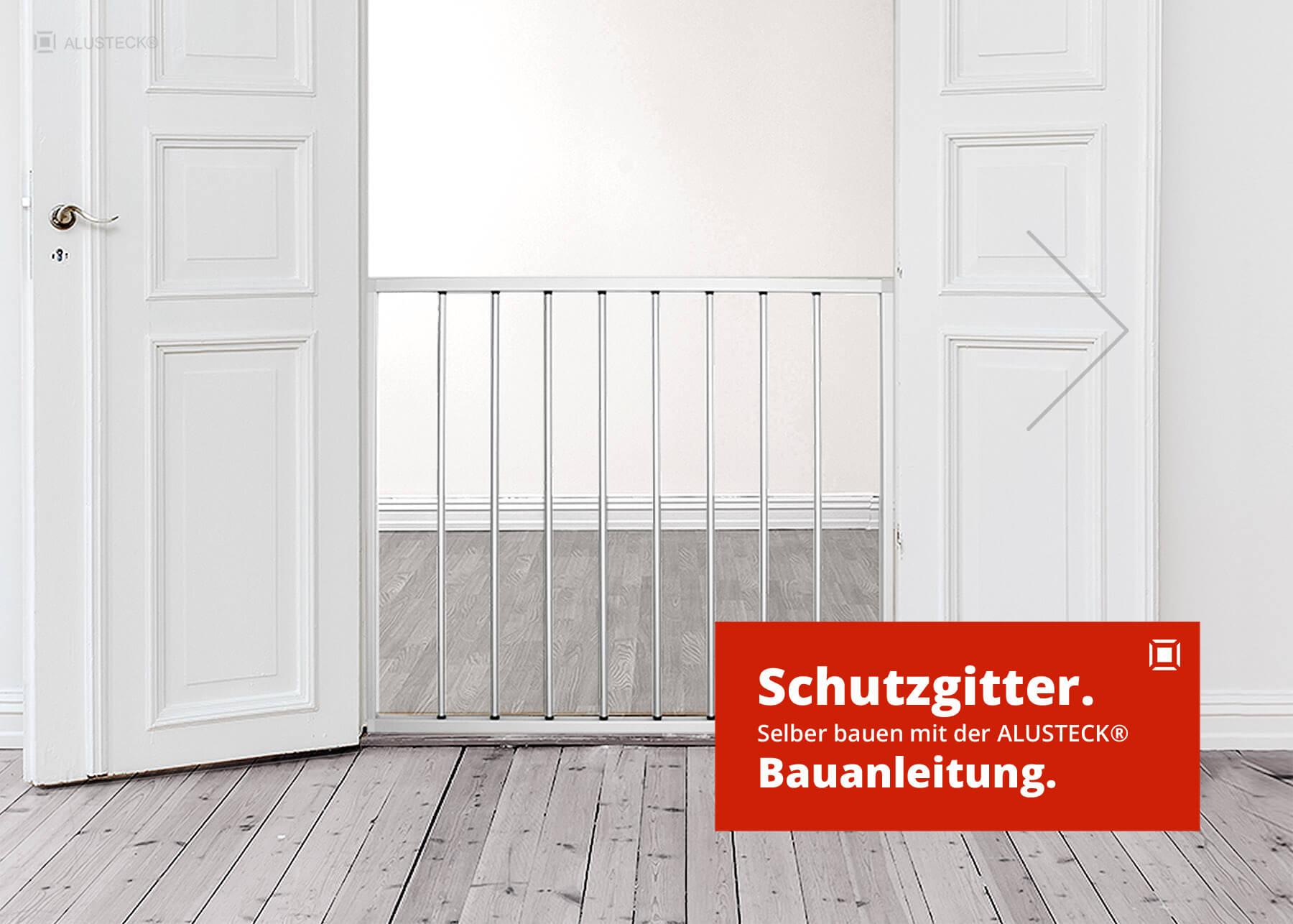 schutzgitter gitterst be alusteck schutzgitter system. Black Bedroom Furniture Sets. Home Design Ideas