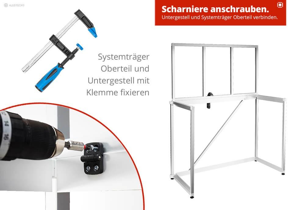 Do ti yourself Campingküche Schritt 3 Unter- und Obergestell verbinden