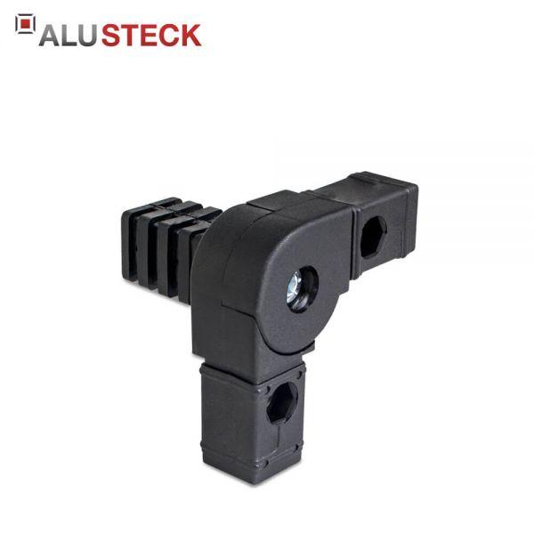 Gelenkverbinder Rohrverbinder für 30x30mm Vierkantrohre - 45-195° / 1 Abgang in schwarz kaufen