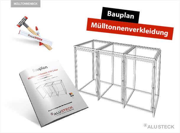 Bauplan Mülltonnenverkleidung