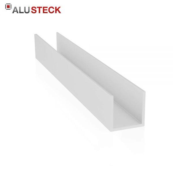 Alu U-Profil 25x25x25x2mm kaufen Zuschnitt - Aluminium silber eloxiert Onlineshop