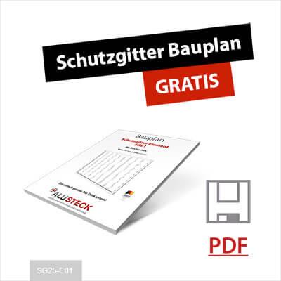Treppenschutzgitter Bauplan PDF anfordern