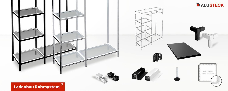 Rohrsystem für den Ladenbau