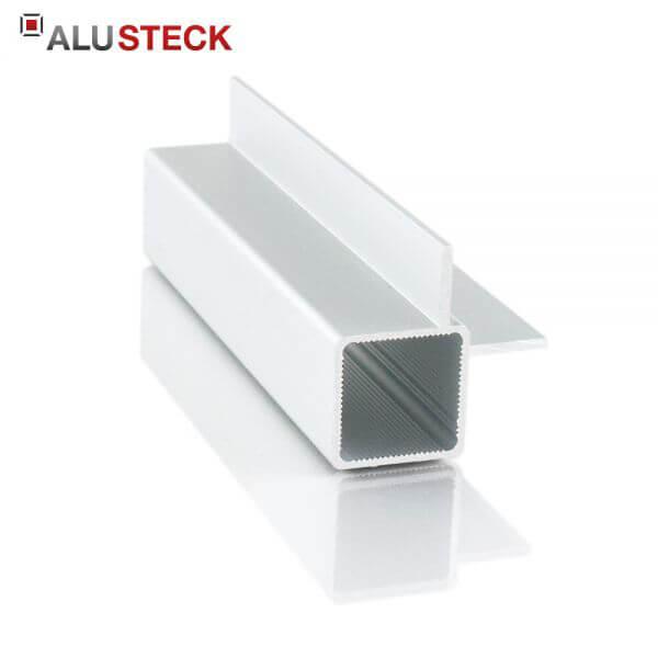 Aluprofil 25x25x1,5mm 2 Stege 15mm Innenwinkel: Quadratrohr 6m Lagerlänge