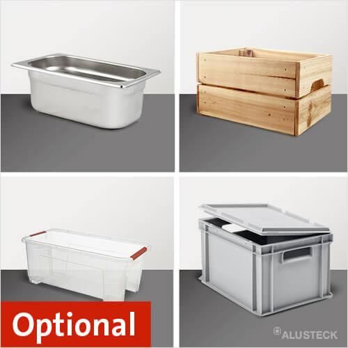 Mögliche Regalbehälter Gastronorm-Behälter Euroboxen, Allzweckboxen und Holzkisten