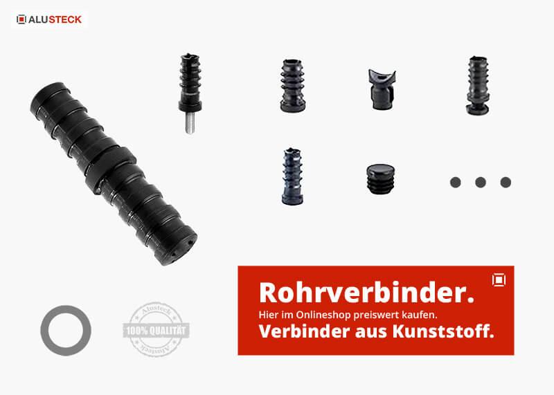 Rohrverbinder rund Kunststoff