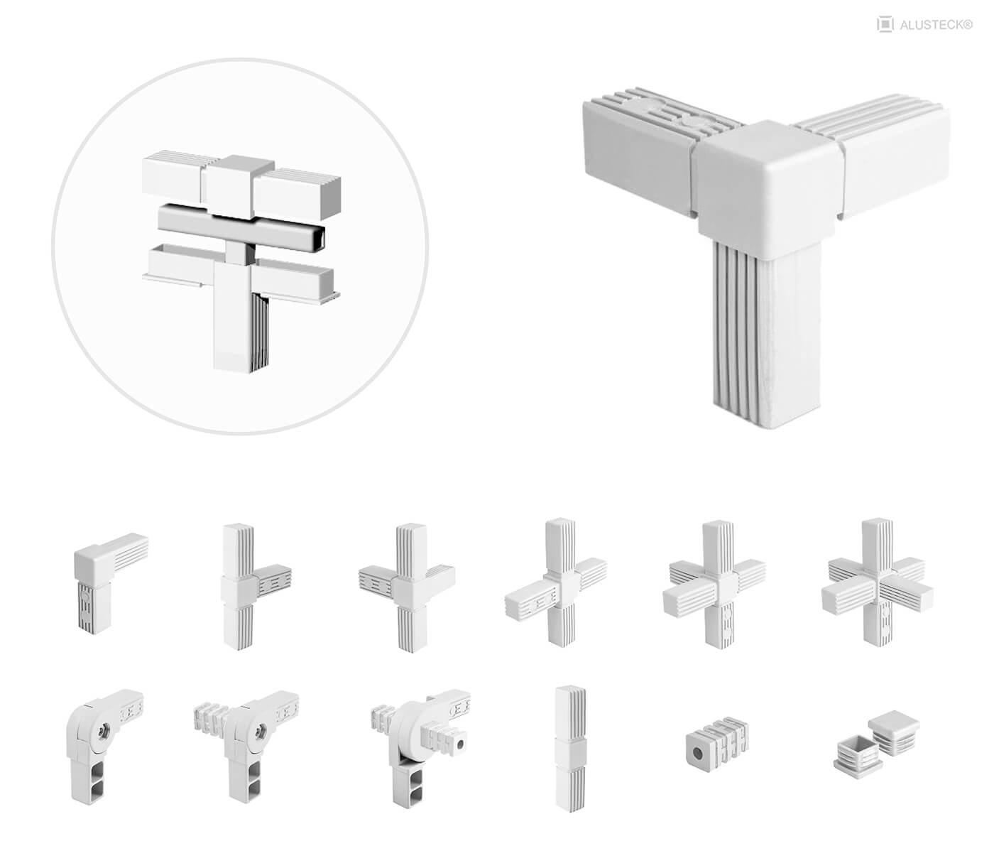 Ladenbausystem Verbindungstechnik Alusteck