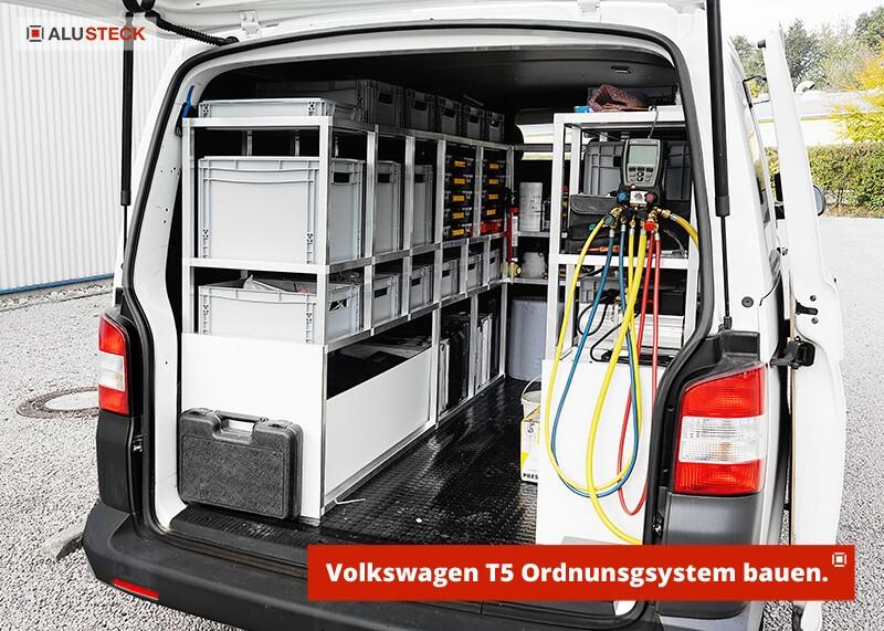 Bauanleitung VW T5 Transporter Fahrzeugregale Handwerk selber bauen Ordnungssystem Volkswagen