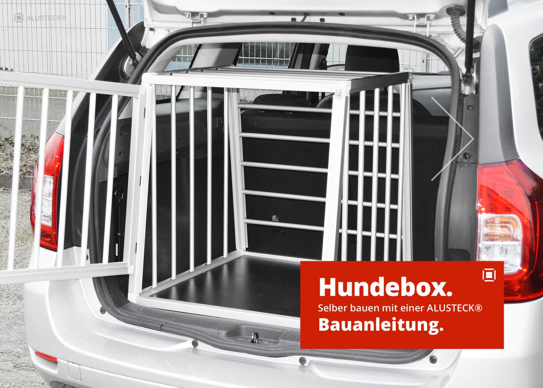 hundetransportbox selber bauen anleitung auto hundebox alusteck. Black Bedroom Furniture Sets. Home Design Ideas