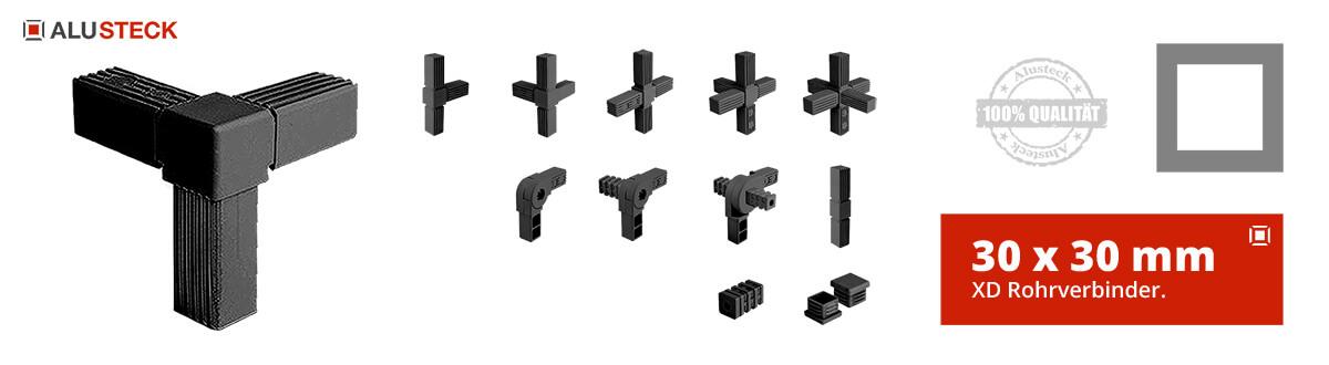 XD Verbinder Rohrverbinder Kabine Raum in Raum Assembly System bauen 30 x 30 mm ALUSTECK®