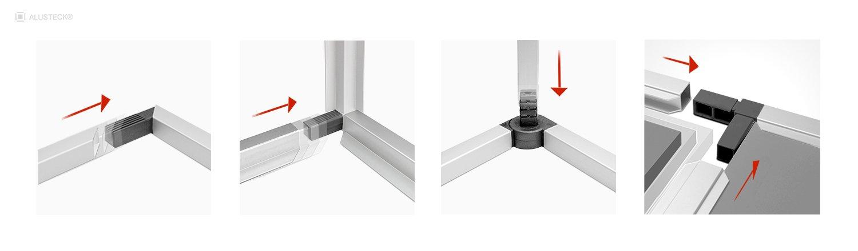 Nutzfahrzeuge Fahrzeugausbau Aluminium Profilsystem Montage- Einbau Stecksystem