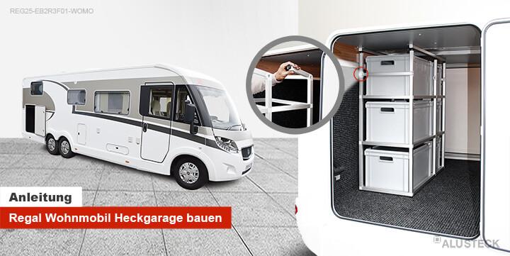Regal für die Wohnmobil, Caravan oder Camper Heckgarage selber bauen
