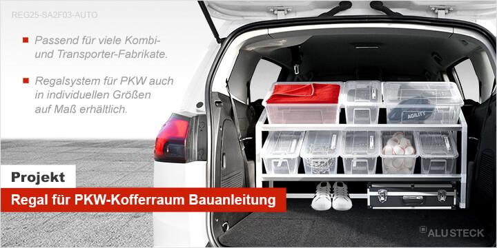 PKW-Regal für den Kofferraum selber bauen Bauanleitung