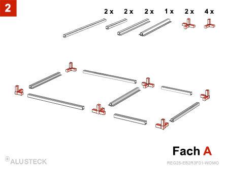 Aufbau Regal Bodenfach