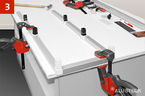 Schritt 3: Heimwerker Bauanleitung für den Regalbau. Zusammenbau der Regalseiten