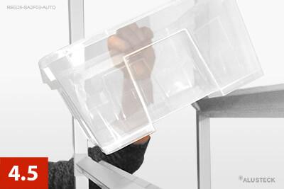Schritt 4.5: Regalbehälter einsetzen