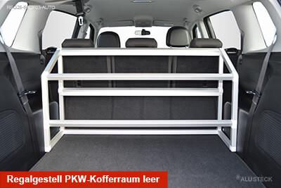 Regalgestell Ansicht PKW-Kofferraum leer