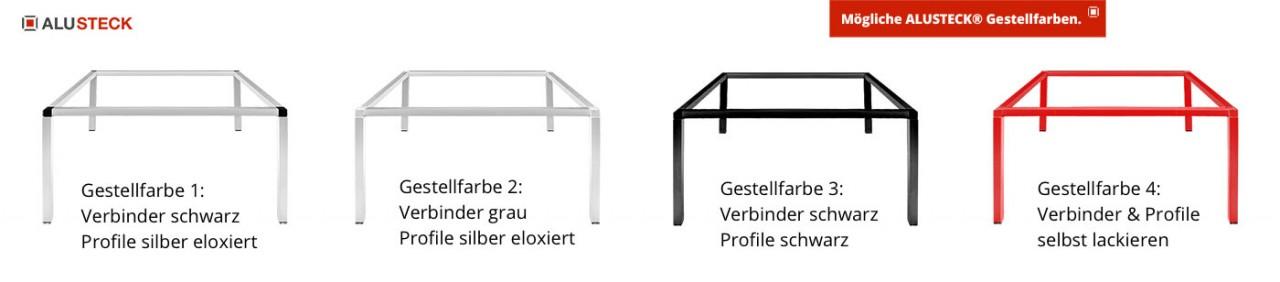 Do it yourself Tischgestell - Profile und Verbinder Farbkombinationen oder einfach selbst lackieren