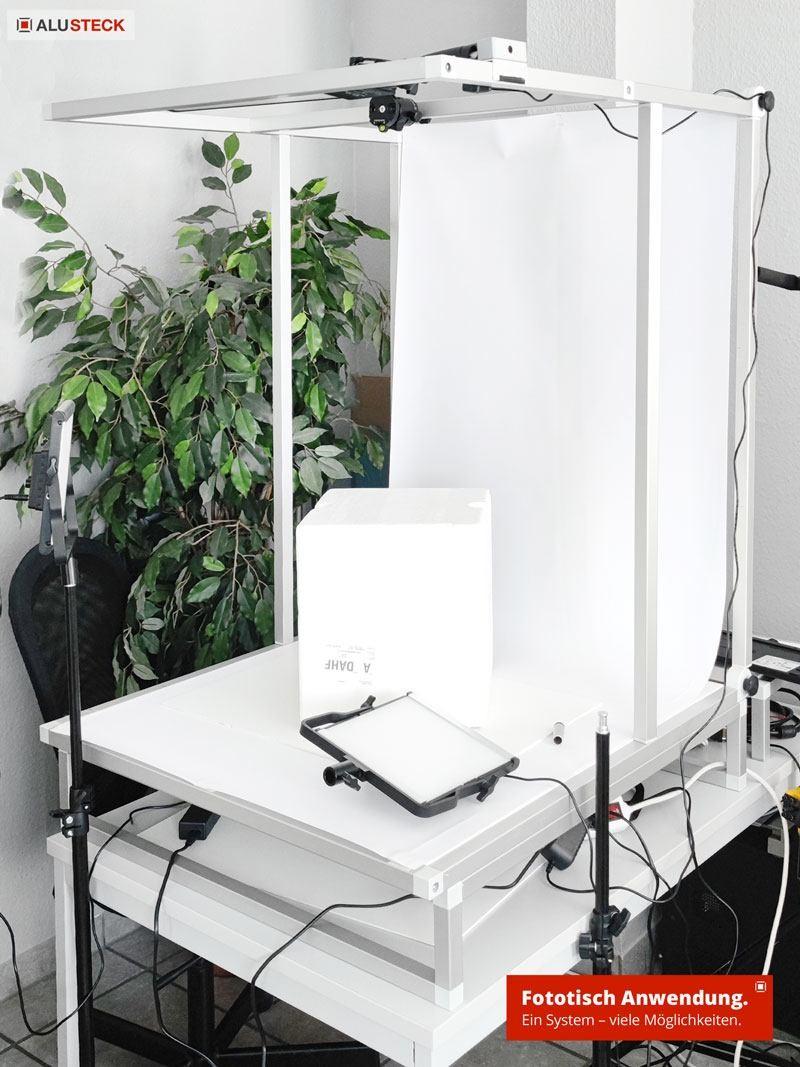 Aufnahmetisch Fotostudio selber bauen - Fototisch Aufbau