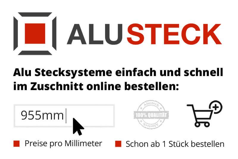 Alu Stecksystem ALUSTECK® Stecksysteme Aluminium - 3D-Plastic, Hornbach, Obi, Bauhaus, Alfer, XD, Marinesystems, Alsopla und Baumarkt online bestellen