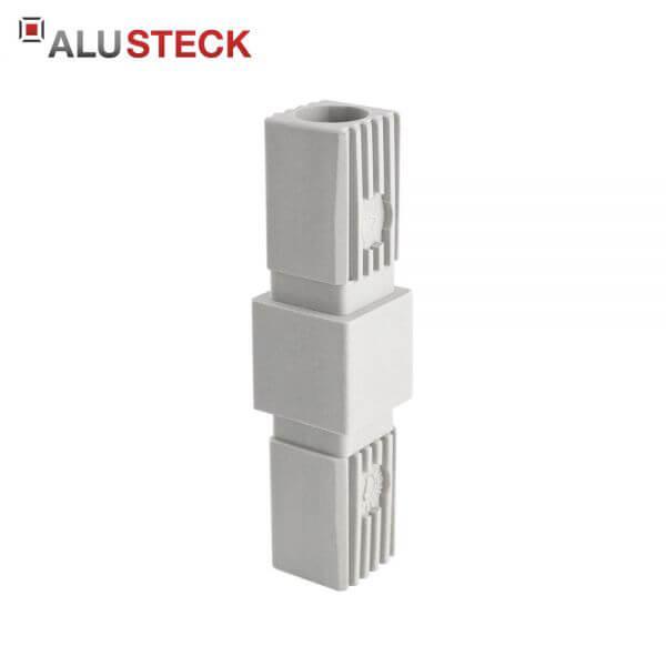 Rohrverbinder: Rohrverlängerung mit Rundloch - 25x25mm Quadratrohr Steckverbinder