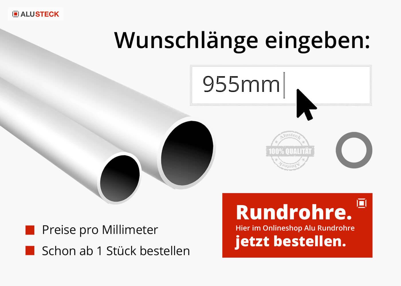 Alu Rohre kaufen - Aluminium Rundrohre und Alurohre Onlineshop