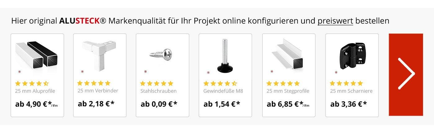 ALUSTECK® Produkte VW T6, T5, T4, T3, Caddy und Crafter Selbstausbau