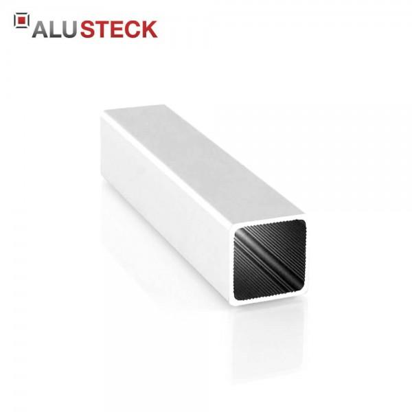 Alu Vierkantrohr 25 x 25 x 1,5 mm silber eloxiert - Alu Steckprofil Quadratrohr R-V25