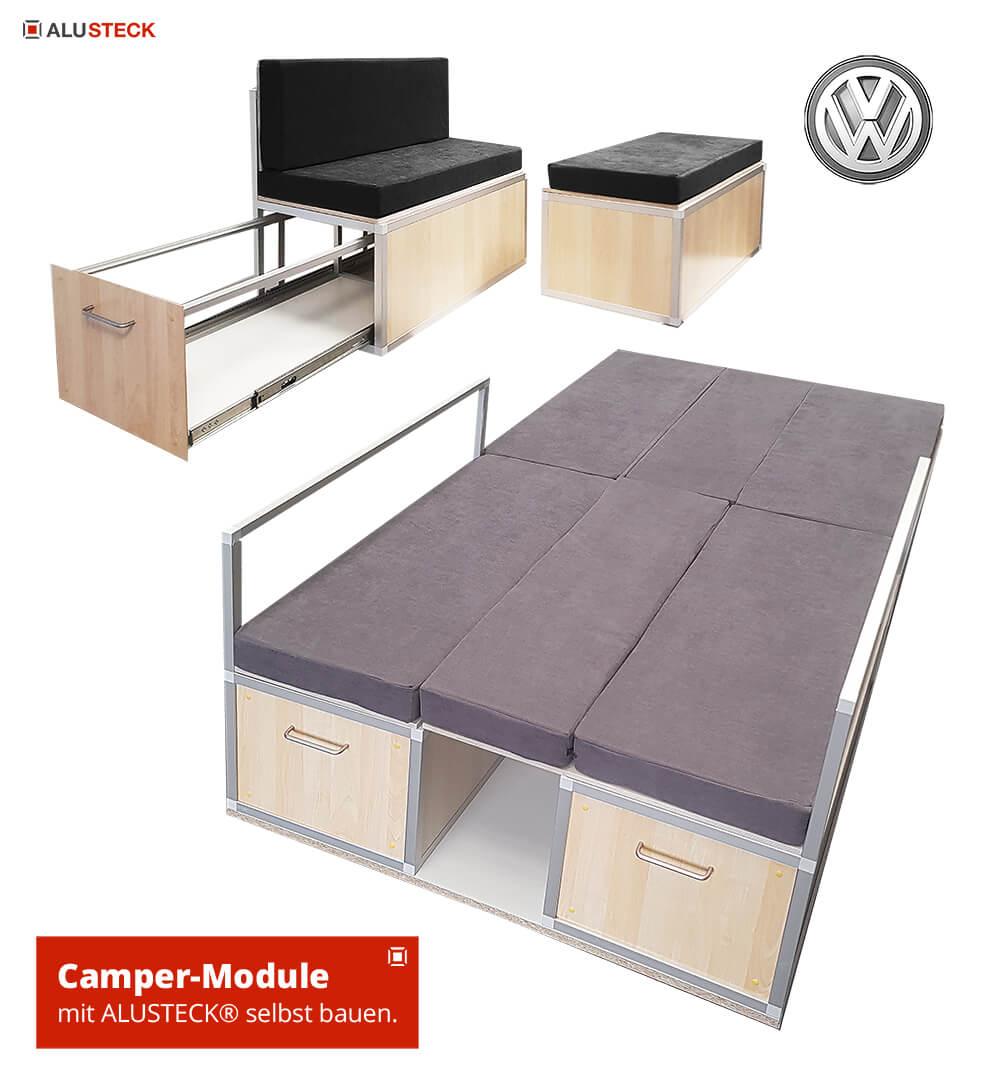 Campingbox VW Bulli T5, T4, T3, T6 Transporter, Crafter