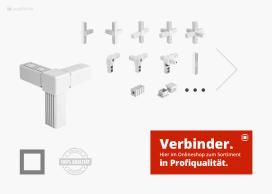 Verbindungstechnik, Rohrverbinder, Eckverbinder, Steckverbinder & Rohrstopfen Sortiment Onlineshop ALUSTECK®