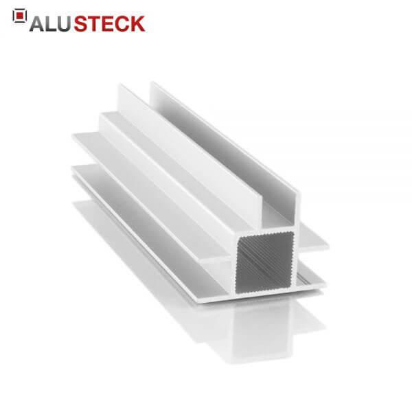 Aluprofil 20x20x1,5mm 3 Doppelstege 10mm: Quadratrohr 6m Lagerlänge