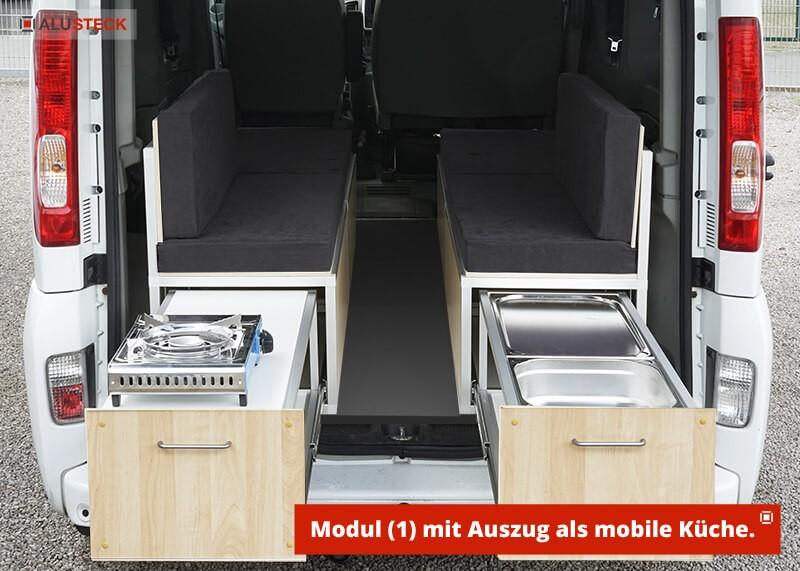Camper-Box / Campingbox - Einbau Schubladenauszug als mobile Küche